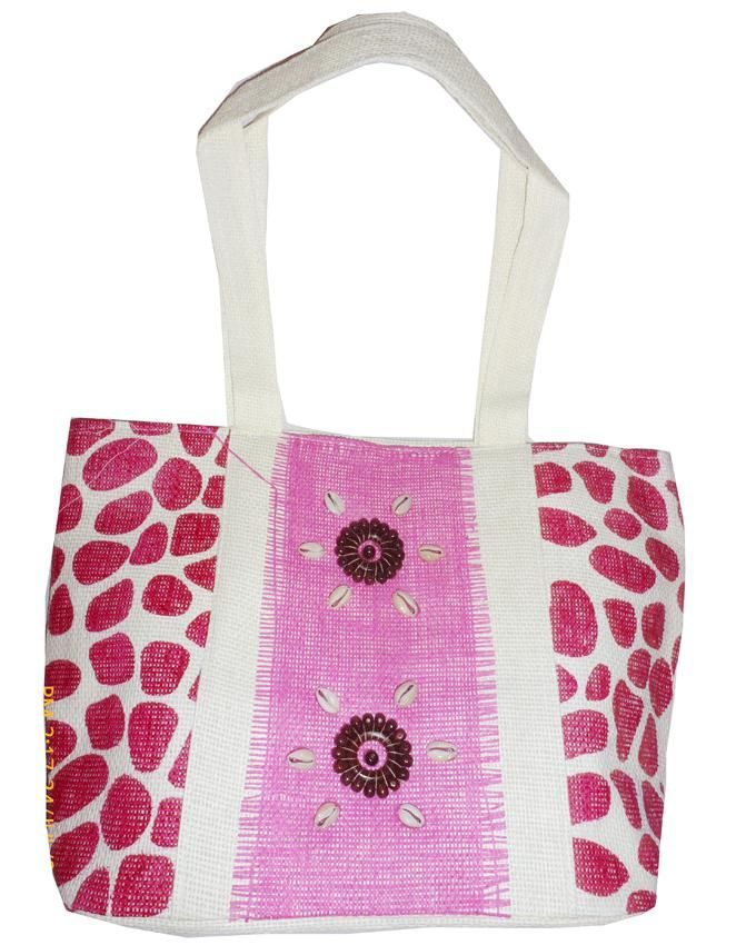 Friends Fuchsia Linen Hand Bag
