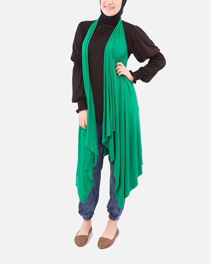 Glow High-low Cardigan - Green