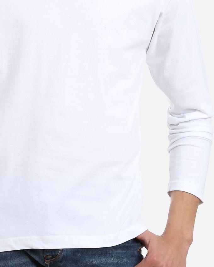 V-Neck Basic T-Shirt - White