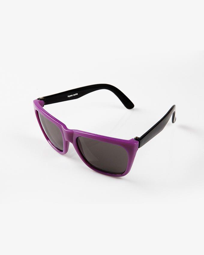Ticomex Dual color Wayfarer Style Kids Sunglasses - Purple Frame with Black Handles