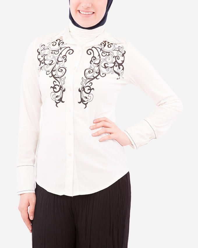 Glow Imprinted Shirt  - Off White