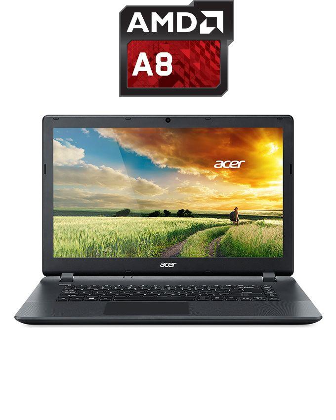 لاب توب Aspire ES1-521-83HF - AMD A8 - رام 4 جيجا بايت - هارد ديسك درايف 500 جيجا بايت - شاشة عالية الجودة 15.6 بوصة - معالج بياناتAMD - DOS - أسود