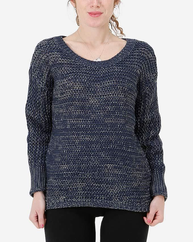 New Park Loose Knitted Pullover - Navy