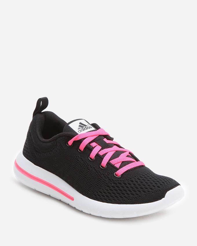 Adidas Element Urban Run Trainers - Black & Neon Fuchsia