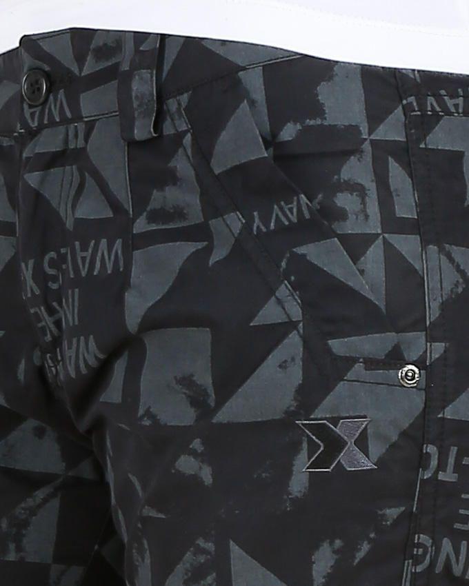 بنتاكور منقوش - أسود