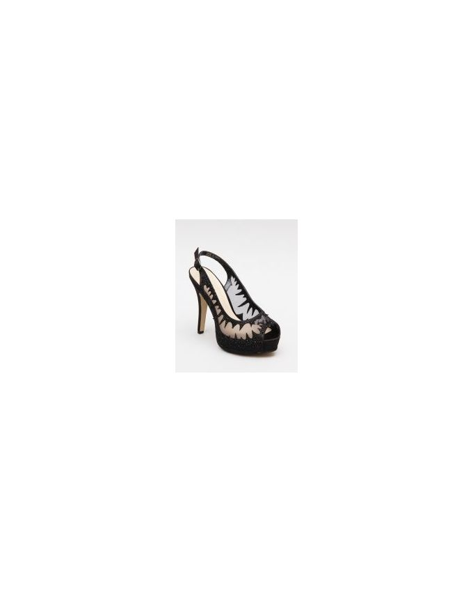 Mr. Joe Slingback Heeled Peep Toe - Black