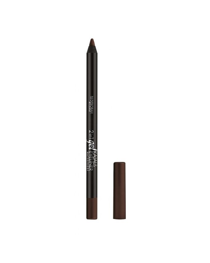 2 In 1 Gel Kajal & Eye Liner Pencil - Brown