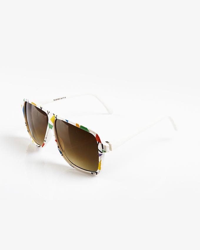 Ticomex Oversized Oval Style Sunglasses - White