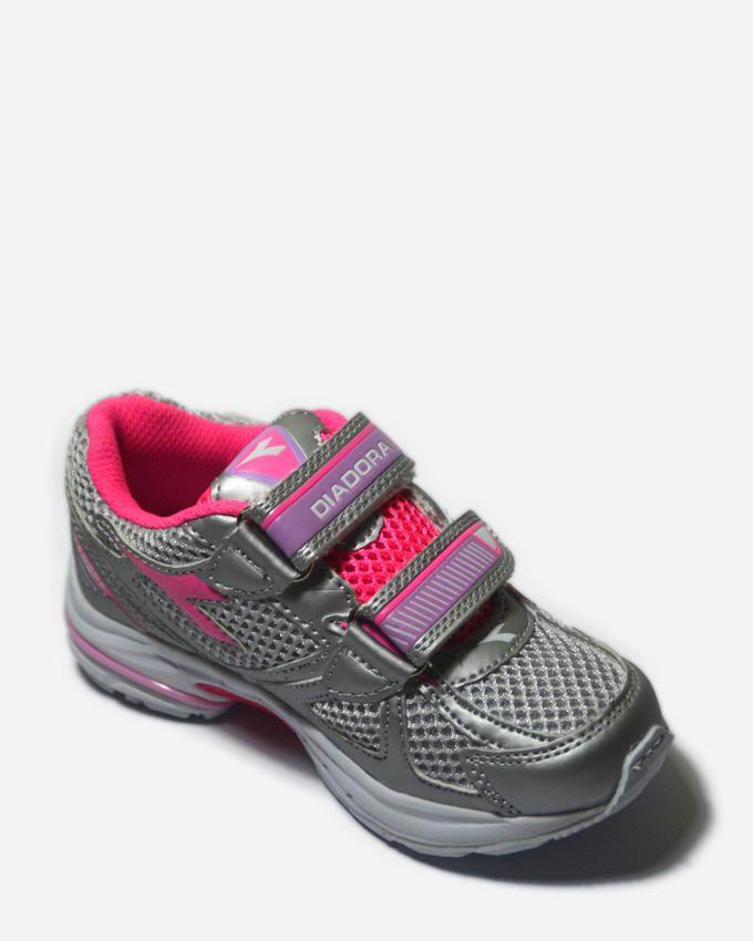 Diadora Shape 3 JR V running shoes - Grey/Pink