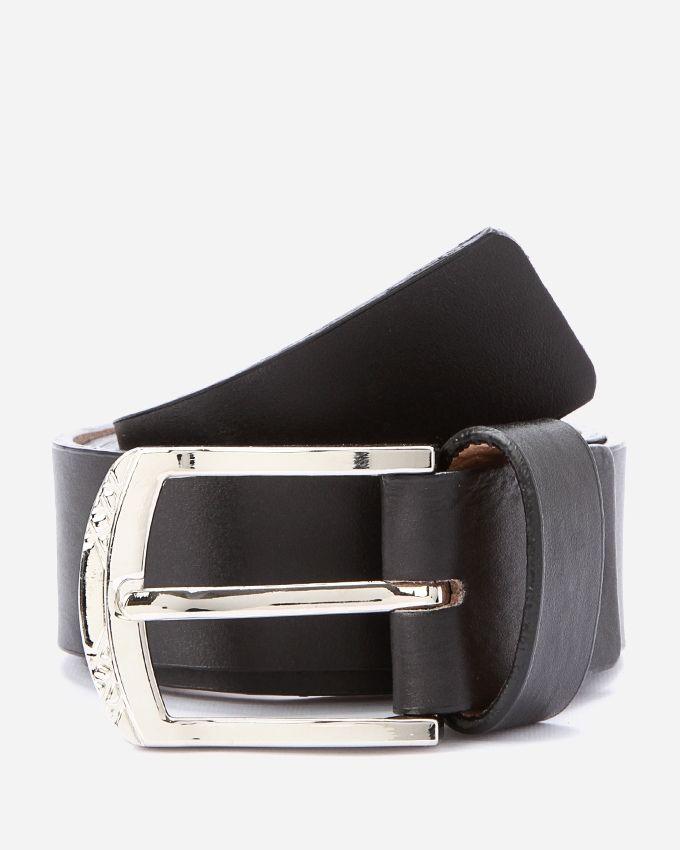 andora solid leather belt black buy jumia