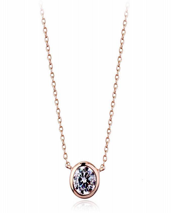 Dinardo Rose Gold 18K Gold Plated Swarovski Necklace
