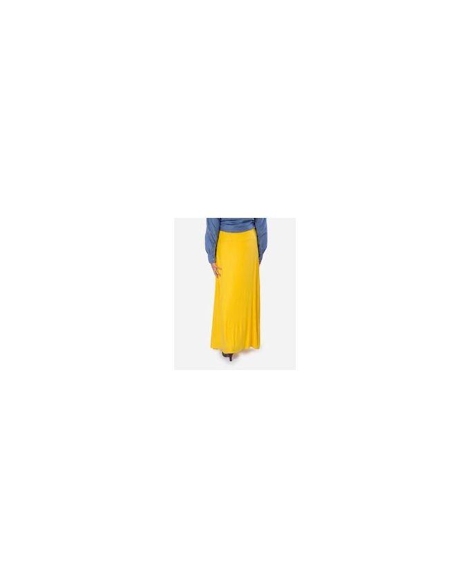 Rehan Yellow Lycra Cotton Skirt