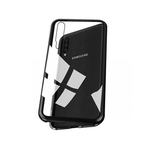 wholesale dealer 05058 0114e Samsung Galaxy A70 Magnetic Case With Tempered Glass - Back