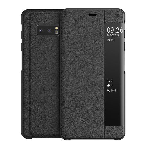 premium selection 856af 85d39 Galaxy Note 8 Case,Smart Window Touch Flip Case/Magnetic Closure/PC  Bumper/360 Degrees Protection Cover For Samsung Galaxy Note 8/Galaxy Note8  Duos ...