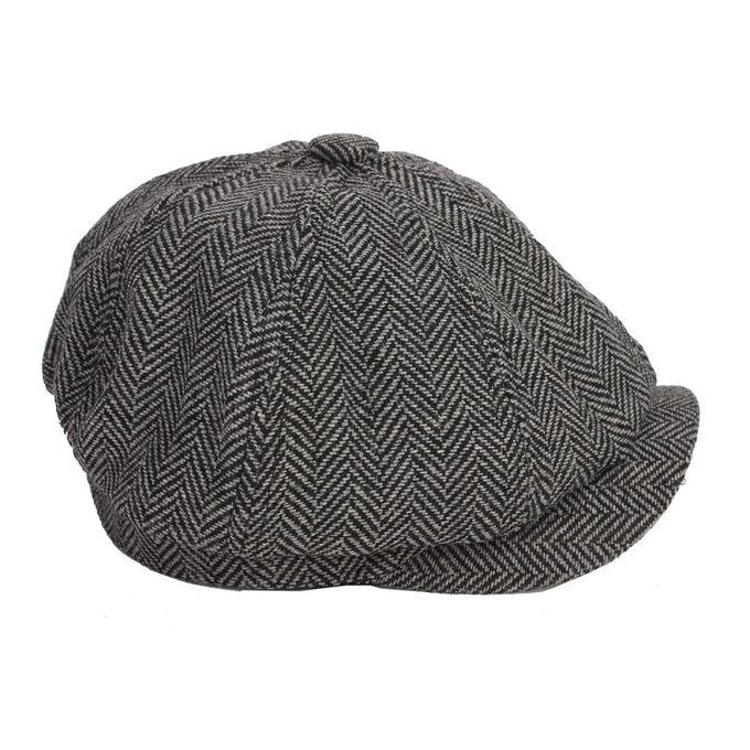 7afc26b5137f2 ... Fashion Men Women Visor Cotton Newsboy Beret Cap Outdoor Casual Winter  Cabbie Hat Dark Gray ...