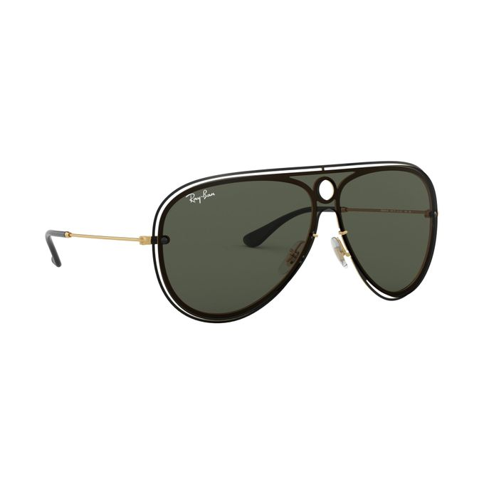 45bc4a709de30 Sale on New Ray Ban Sunglasses 3605n 187 71 Green   Gold Aviator ...