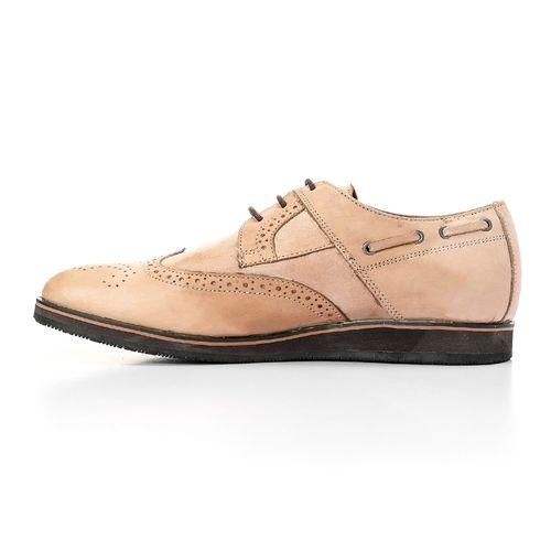 Brogues Men Smart Shoe - Light Beige