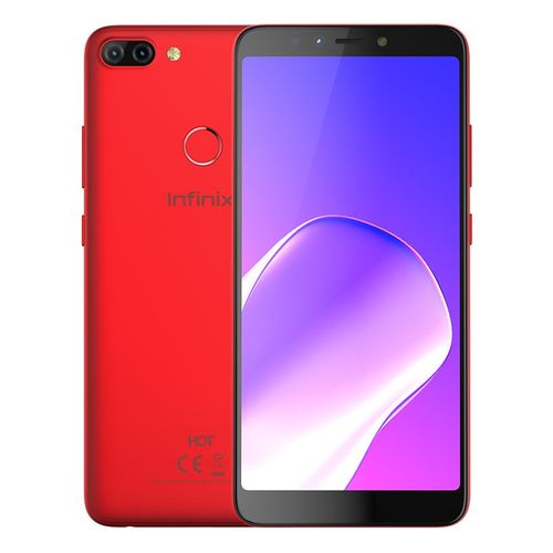 X608 Hot 6 Pro موبايل 6.0 بوصة - 16 جيجا بايت - أحمر