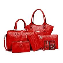 f02b79a17eaf7 6PCS SET Elegant Women Composite Bag Fashionable Female Single Shoulder
