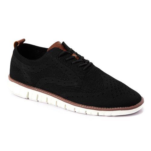 Elegant Synthetic Men Casual Shoes - Black