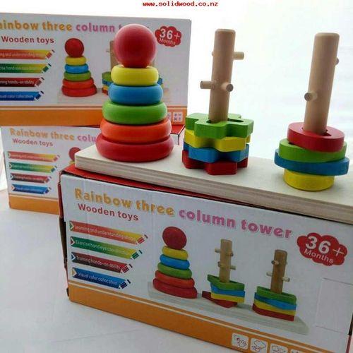 Rainbow Three Column Towers