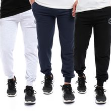 89fd330857773 Bundle Of 3 Jogger Pants With Code Light Grey  amp Navy Blue amp  ...