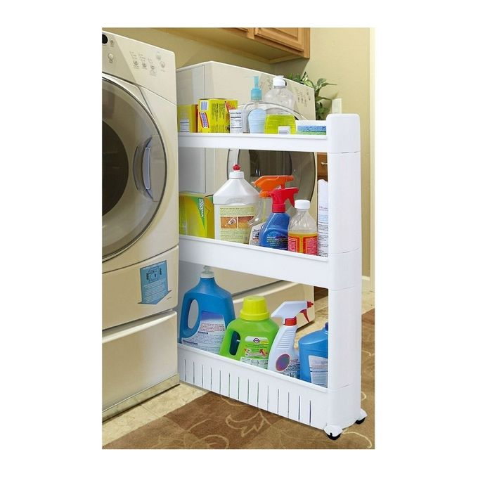 as seen on tv slide out storage rack organizer with wheels 3 tier buy online jumia egypt. Black Bedroom Furniture Sets. Home Design Ideas