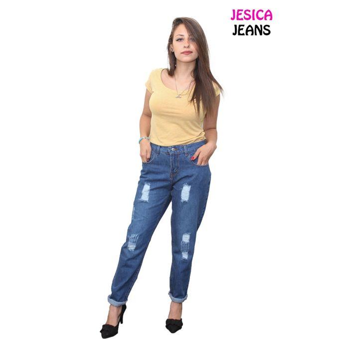 4adc11a9901d6 بنطلون بوى فريند - جينز مقطع - ازرق - Jumia مصر