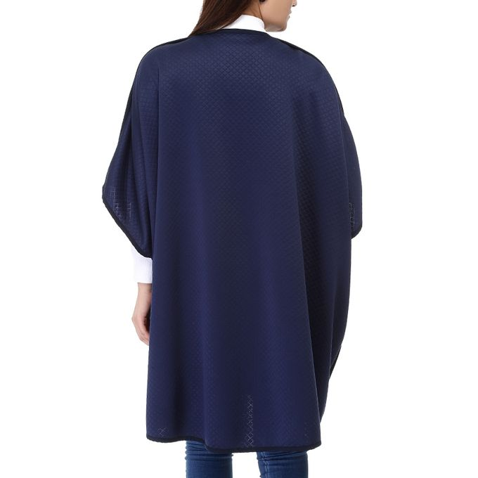 Quilted Cardigan - Deep Navy Blue