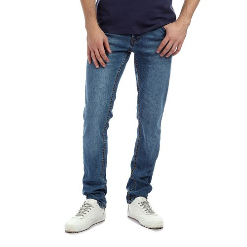 Washed Casual Jeans - Dark Blue - (53)