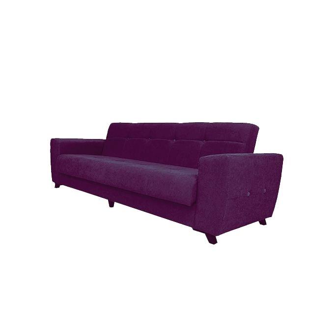Sectional Sofa 3 Seats Purple