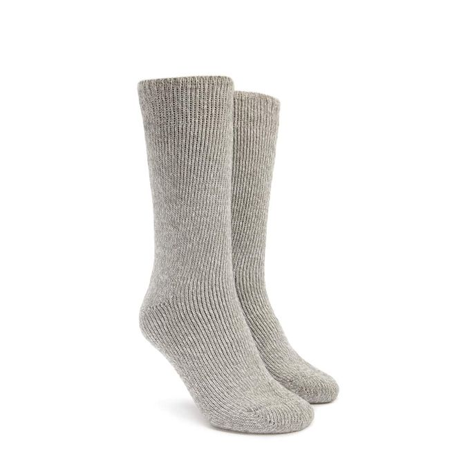 Heavyweight Marled Knit Socks