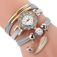 e15a4e100d724 Watches Women Popular Quartz Watch Luxury Bracelet Flower Gemstone  Wristwatch