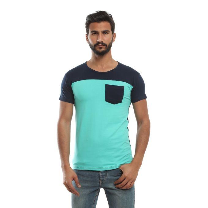 5b0f2d459 Sale on Plain Round Neck T-shirt - Spring Green & Dark Blue | Jumia ...