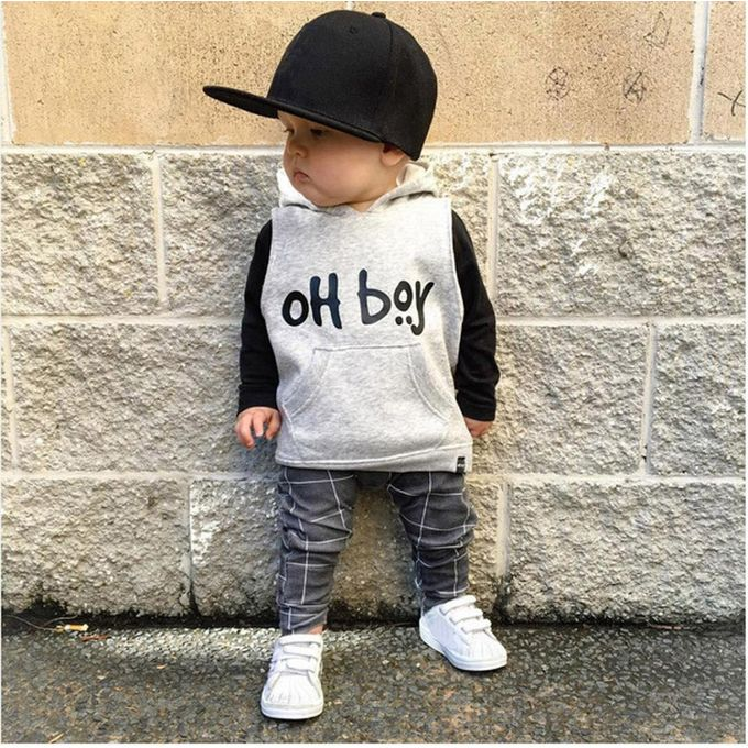 fb8096eec ... FashionToddler Infant Baby Girl Boy Clothes Set Fashion Hooded  Tops+Pants Outfits ...