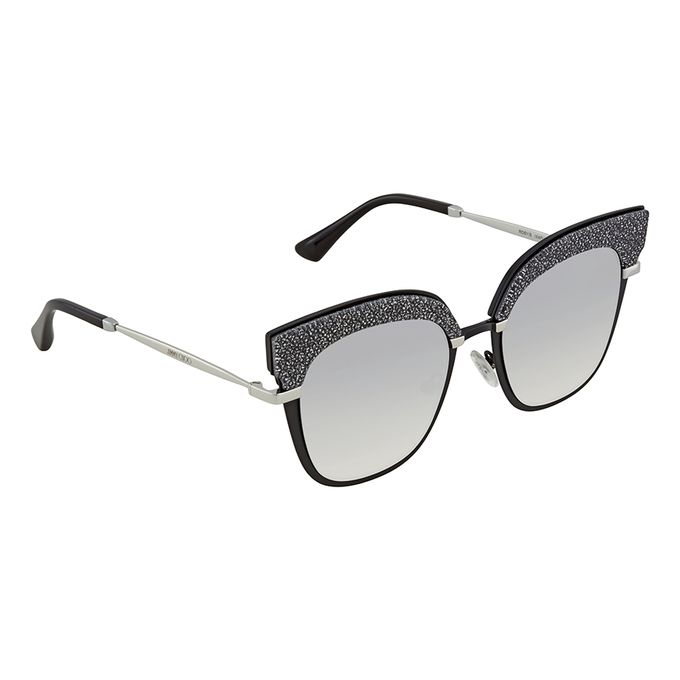 4ba66b260ef Sale on Jimmy Choo Rosy Sunglasses In Black Gold Glitter (GRY SF SLV ...