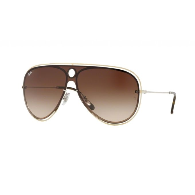 5c28384e32263 ... Ray-Ban Blaze Shooter RB 3605N 9096 13 Gold Silver Brown Gradient ...