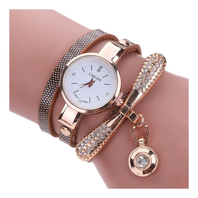 ffcc837d8 Tectores 2018 Fashion Multifunction Women Leather Rhinestone Analog Quartz  Wrist Watches BW