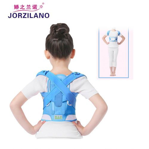 3b688d4c29 Universal JORZILANO Blue Adjustably Posture Corrector Support Brace For  Adults & Adolescents