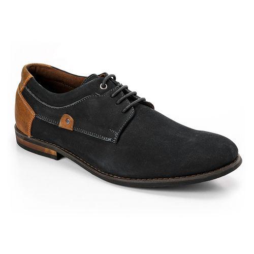 Formal Suede Men Shoes - Navy Blue