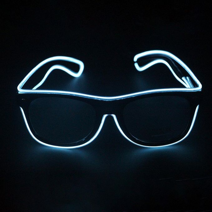 Style LED Multi-color Fluorescent Glow Glasses EL Flashing Glasses, Standard Type, Random Color Delivery –  مصر