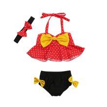 e1b2ccfe3 Fashion3Pcs Infant Baby Girls Swimwear Straps Dot Swimsuit Bathing Bikini  Set Outfits