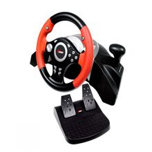 PS3/PS2/PC Vibrating Steering Wheel - Black/Red