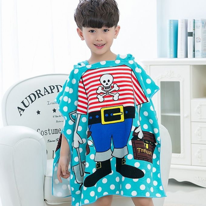 Children Beach Towel Hooded Cloak Kids Boy Girl Baby Bath Towel Absorbent Bathrobe Swim Clothes, Size: 60 x 120cm, Suitable for Height 1.2m or Less –  مصر