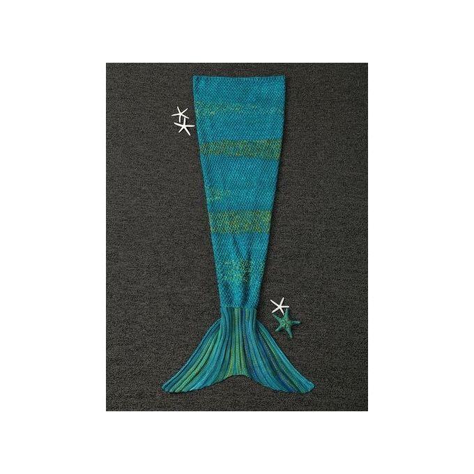 Thicken Lengthen Sleeping Wrap Kids Mermaid Blanket – Cyan –  مصر