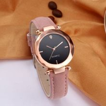242b7da4b57b8 Fashion Women Leather Casual Watch Luxury Analog Quartz Crystal Wristwatch