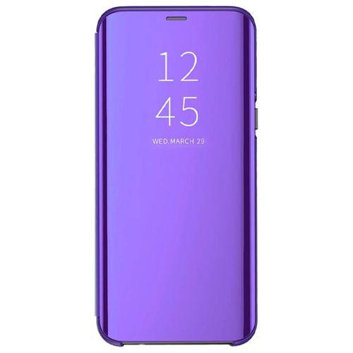 Xiaomi Redmi Note 7 Pro/Redmi Note 7 Plating Mirror Leather Case - Purple  Blue