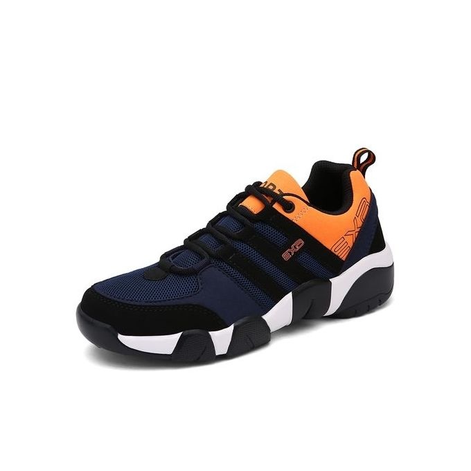 e37283939b22 Sale on Men Breathable Sport Shoes Outdoor Running Sneakers-Black ...