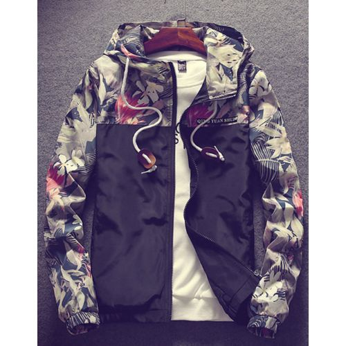106da1081 Generic Floral Bomber Jacket Men Hip Hop Slim Fit Flowers Pilot Bomber  Jacket Coat Men's Hooded