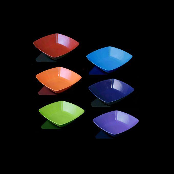 طقم بوله مربعة صغيرة الراينبو – 6 قطع – احمر-برتقالي-بستاج-ازرق لبني-كحلي-موف فاتح –  مصر